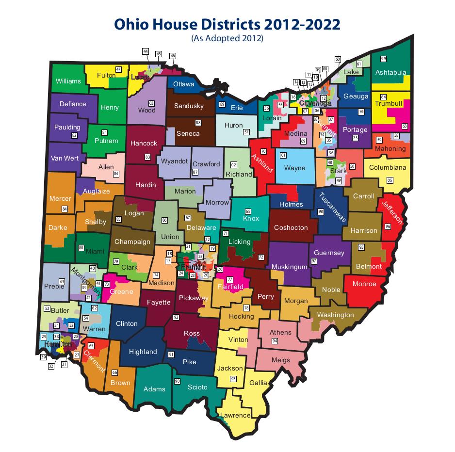 ohio house district map illinois map