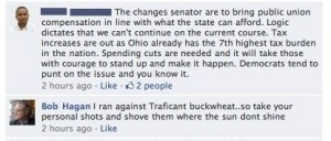 St. Rep Bob Hagan (D-Youngstown) uses a racial slur against an African-American voter on a Facebook post.
